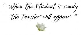 لماذا يظهر المدرس عندما يستعد الطالب؟